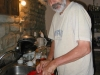 Uncle Turhan at work in the kitchen